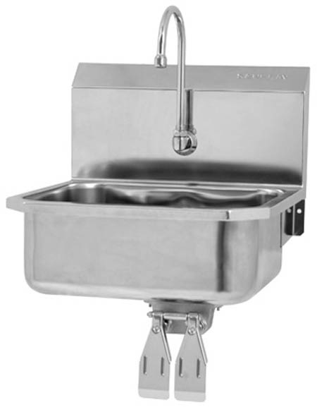 Stainless Steel Wall Mount Hand Sink Knee Control Sani Lav