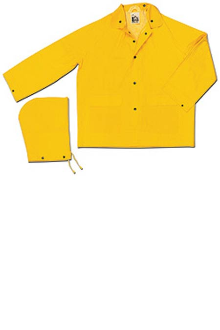 Rain Jacket, PVC / Polyester, Yellow, Snap Storm