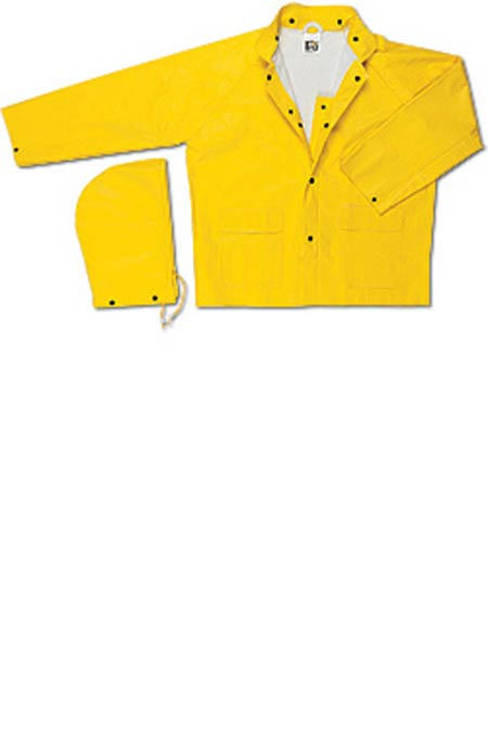 MCR 600JM Medium Yellow PVC/Non-Woven Polyester Rain Jacket