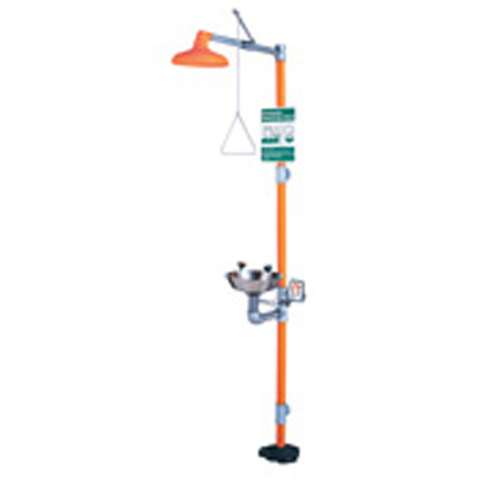 Guardian Equipment GS-PLUS™ GREG1902 Combination Drench Shower and Eyewash Station, Floor Mount, OrangeGuardian Equipment GS-PLUS™ GREG1902 Combination Drench Shower and