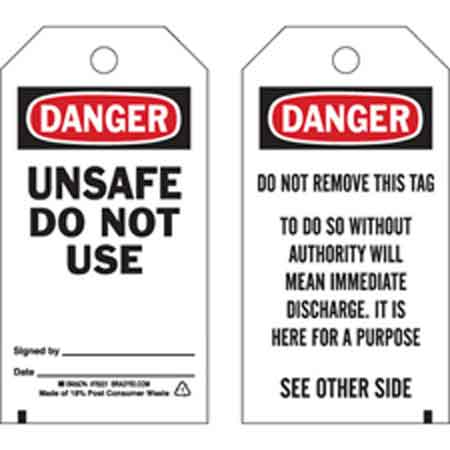 Facility, Equipment and Safety Labels