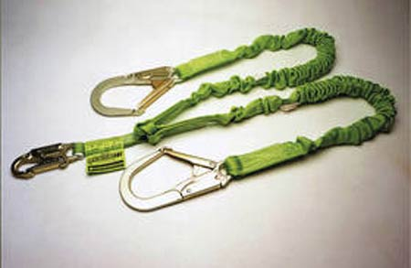 Miller Shock Absorbing Lanyard Stretchable Web 6' Green