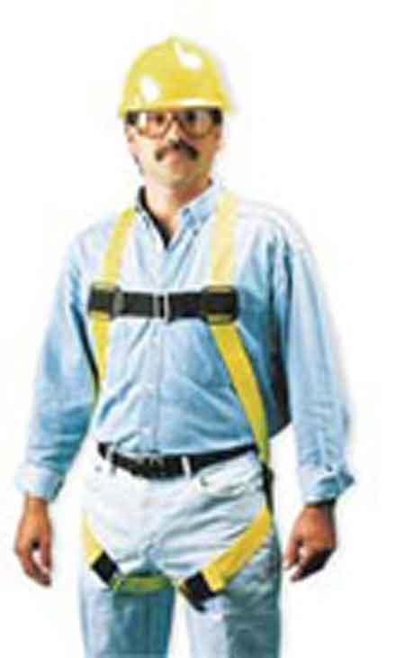 Miller®, Full Body Harness, Non-Stretch Webbing, Yellow, Small