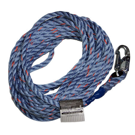 Miller Vertical Lifeline Rope Grab Blue 30' Snap Hook & Loop 300LMiller Vertical Lifeline Rope Grab Blue 30' Snap