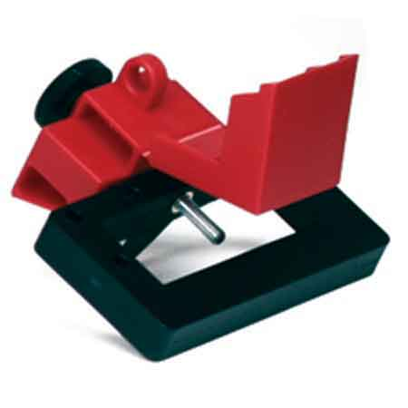 Brady Oversized Breaker Lockout, Red, Chemical-Resistant