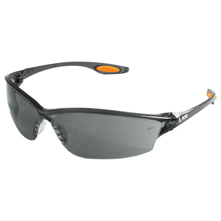MCR Safety LW212 Law 2 Safety Glasses, Gray