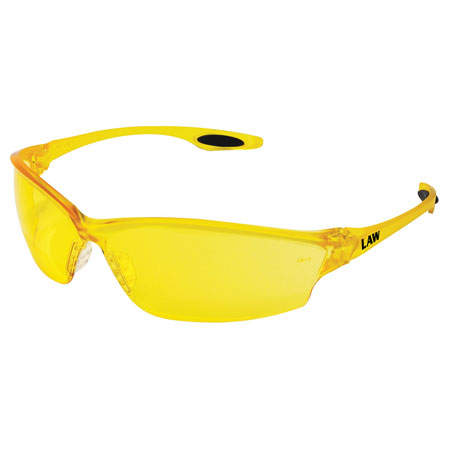 MCR Safety LW214 Law 2 Safety Glasses, Amber
