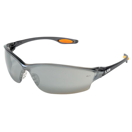 MCR Safety LW217 Law 2 Safety Glasses, Silver