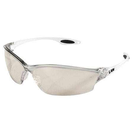 MCR Safety LW219 Law 2 Safety Glasses, Clear