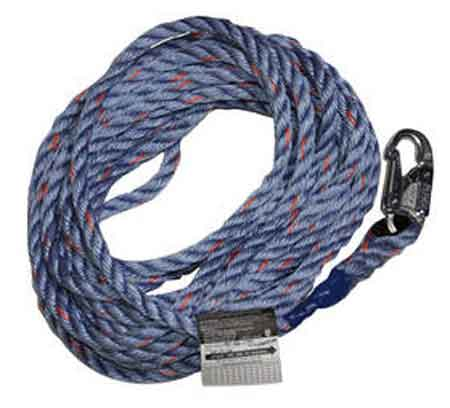 Miller Lifeline Rope Grab Blue 100' Snap Hook & Loop 300LMiller Lifeline Rope Grab Blue 100' Snap Hook