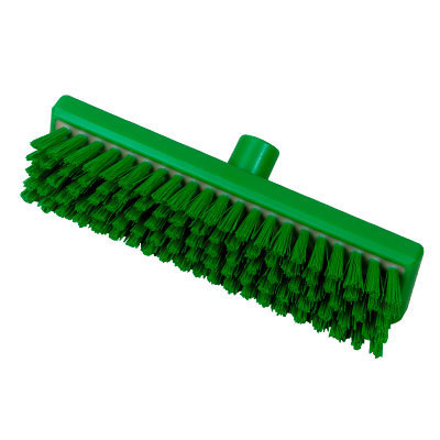 Hill Brush B770RESG Green Stiff Resin-Set Deck Scrub