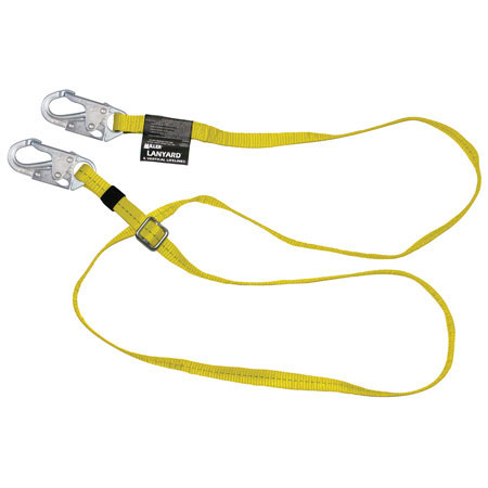 Miller®, Positioning / Restraint Lanyard, Polyester Webbing, Yellow,