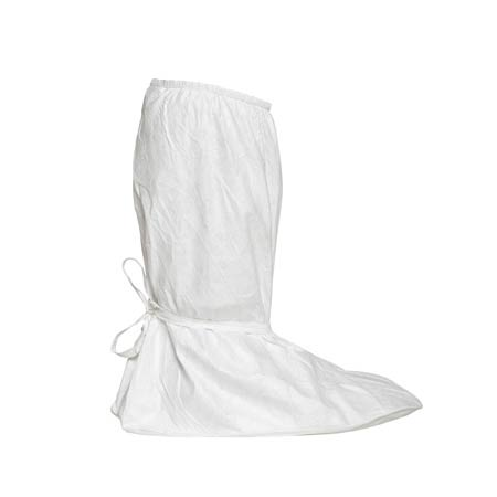 Isoclean®, Boot Cover, PVC, White, Tie Ankle Elastic