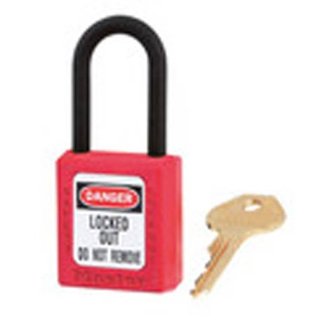 Zenex™, Safety Lockout Padlock, DANGER LOCKED OUT DO NOT REMOVE, Thermoplastic, Red, Keyed DifferentZenex™, Safety Lockout Padlock, DANGER LOCKED OUT DO