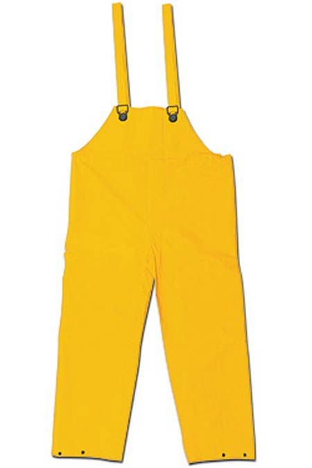 Bib Overall, PVC / Polyester, Yellow, 2X-Large, Welded