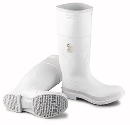 Dunlop 81012 White PVC Steel Toe Boots Safety-Lok