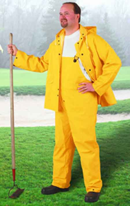 Onguard 76535 Rain Jacket, PVC, Yellow, Storm Flap
