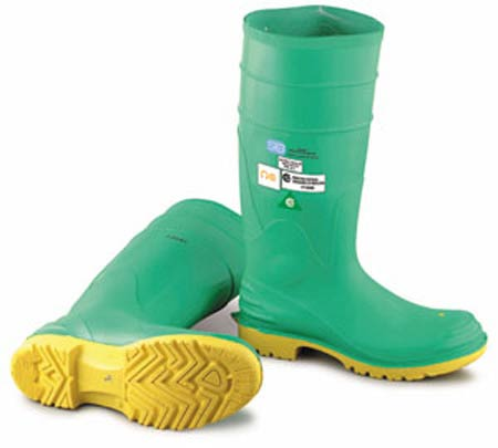 Hazmax® 87012 Steel Toe Boot, Pull-On, Polyester, PVC,