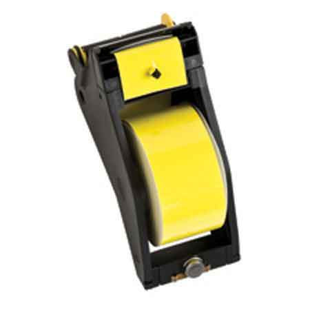 Tape Cartridge, Vinyl Film, Gloss, Black / Yellow,