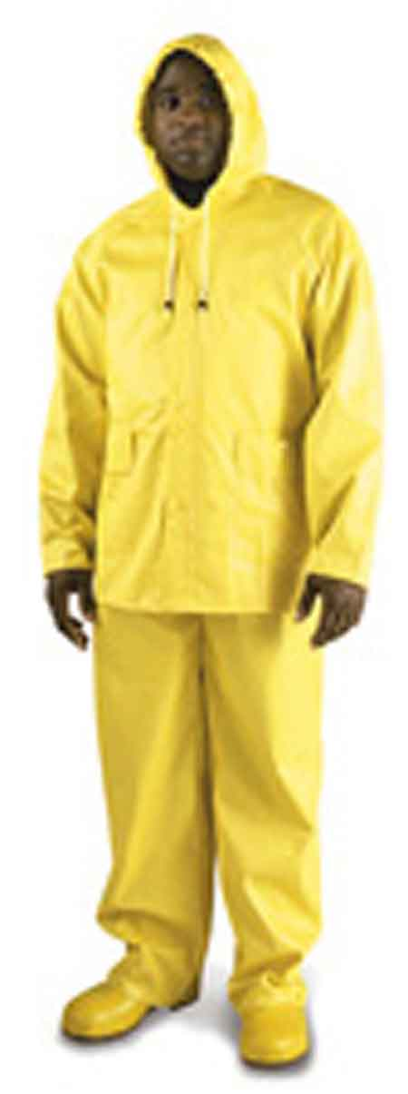 Rain Jacket, PVC on Polyester, Yellow, Snap Storm