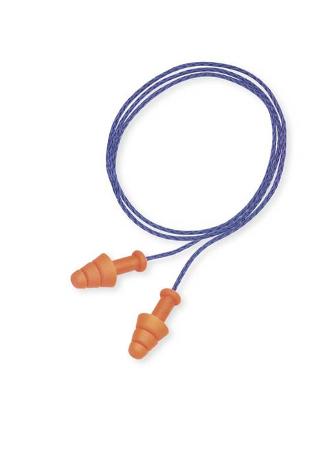 Howard Leight® SMF-30 Reusable Earplug, Corded, Orange, Triple