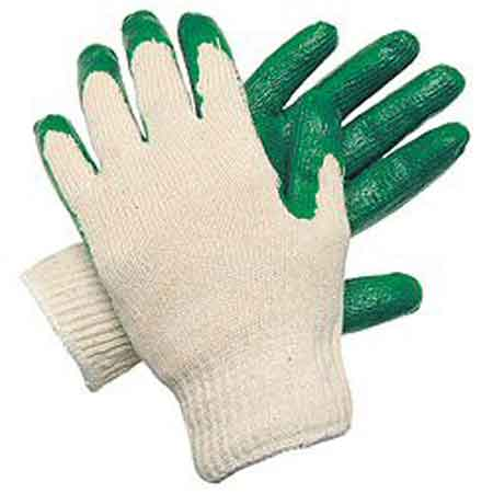 Latex Coated Gloves, Cotton Polyester Blend
