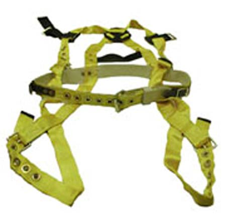 Miller®, Full Body Harness, Non-Stretch Webbing, Yellow, X-Large