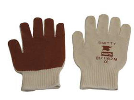 Honeywell North® 81/1162M General Purpose Gloves, Cotton/Poly, Nitrile, Natural/Rust, MediumHoneywell North® 81/1162M General Purpose Gloves, Cotton/Poly, Nitrile,