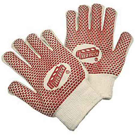 MCR Safety 9460K Red Brick String Knit Gloves,