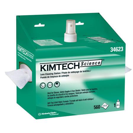Kimtech Science®, Lens Cleaning Station, Pop-Up Box, 4.4 x 8.4 inKimtech Science®, Lens Cleaning Station, Pop-Up Box, 4.4