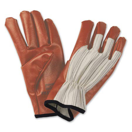 North® 85/3719	General Purpose Gloves, Nitrile, Rust/Beige/Black, Universal