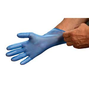 Detectamet® 450-A65-S09 Blue Vinyl Disposable Gloves, 5-Mil