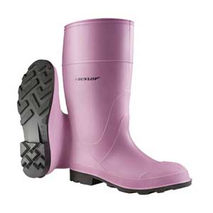 Dunlop 53606 Pink Steel Toe Boots