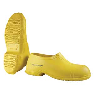 Dunlop® 88010 Plain Toe Overshoe, PVC, Pull-On, Yellow