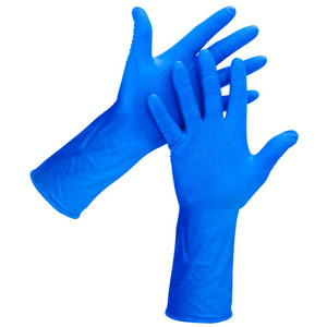 Eagle Protect Blue Diamond 9 Mil Nitrile Glove. View Larger