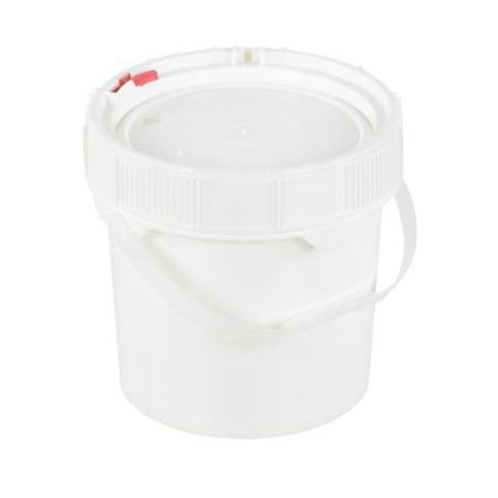 High-Density Polyethylene Screw Top Pail with Lid and