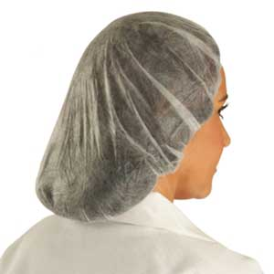 Hairnet, Nylon, White, Regular, 20 in