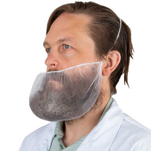 M8 White Honeycomb Disposable Beard Guard, 21""