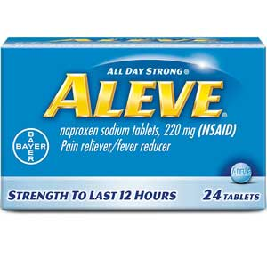 Aleve® 351164 Pain Reliever, Naproxen Sodium, 220mg TabletsAleve® 351164 Pain Reliever, Naproxen Sodium, 220mg TabletsAleve®