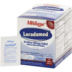 Medique Products® Loradamed Loratadine Allergy Medication, 50 dosesMedique Products® Loradamed Loratadine Allergy Medication, 50 dosesMedique