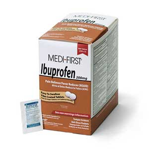 Medique® 80813 Individually Packaged Medi-First Ibuprofen Tablets,