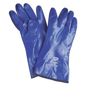 North NK803IN Nitri-Knit™ Supported Nitrile Gloves, Size 7