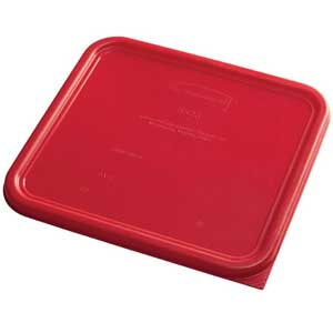 Rubbermaid Color Coded Food Storage System Square Lid Red