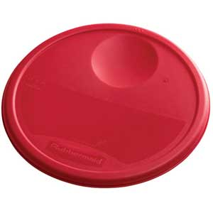 Rubbermaid Color Coded Food Storage System Round Lid Red