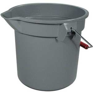 Rubbermaid® BRUTE® FG261400 Commercial Brute Round Buckets, 14-Quart
