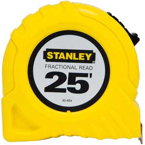 Stanley® 30-454 25 ft Fractional Read Tape MeasureStanley® 30-454 25 ft Fractional Read Tape MeasureStanley®