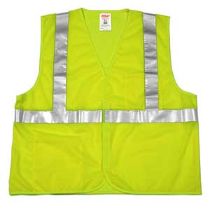 Tingley V70629 Hi-Viz Mesh Safety Vest, Lime