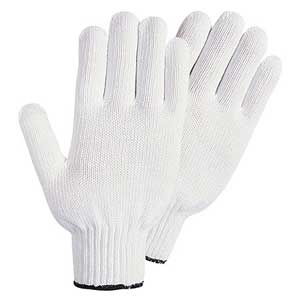 Wells Lamont Y5010 Polyester String Knit White Gloves