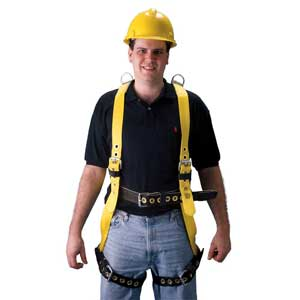 Miller®, Full Body Harness, Non-Stretch Webbing, Yellow /
