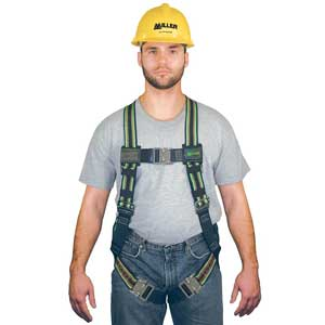 Miller E650QC DuraFlex Ultra Harness, Green, 400 lb